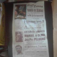 Coleccionismo de carteles: CARTEL DE TOROS VALENCIA ALCANTARA AÑO 1978. Lote 102493335