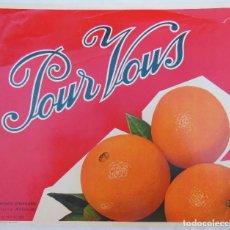 Coleccionismo de carteles: NARANJAS POUR VOUS. 1962. ALCIRA. Lote 103129987