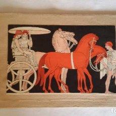 Coleccionismo de carteles: ANTIGUO ESTUCHE - SOBRE ART DECÓ CON ESCENAS EGIPCIAS. H. LE CLERC. Lote 100089507