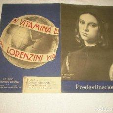 Coleccionismo de carteles: VITAMINA LORENZINI , CARTEL DOBLE . INSTITUTO BIOQUIMICO ESPAÑOL. Lote 103699699