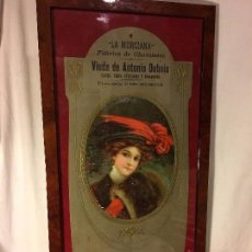 Coleccionismo de carteles: EXCELENTE CARTEL ORIGINAL ALTA EPOCA MODERNISTA FABRICA CHOCOLATE LA MURCIANA ORIGINAL S.XIX 1890. Lote 105051219
