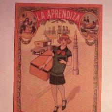 Coleccionismo de carteles: LA APRENDIZA - FELICES PASCUAS DE NAVIDAD - ZORIONAK - PAIS VASCO.. Lote 105193123
