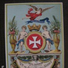 Coleccionismo de carteles: PAPEL SUPERIOR JOSE ROCA Y SERRA -PALAUTORDERA -CARTEL PUBLICIDAD-15 X 20 CM. -VER FOTOS-(V-12.971). Lote 106272899