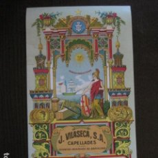 Coleccionismo de carteles: PAPEL FLORETE -J. VILASECA - CAPELLADES -CARTEL PUBLICIDAD-15,5 X 28 CM. -VER FOTOS-(V-12.972). Lote 106275007