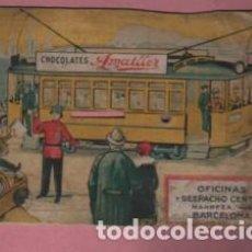 Coleccionismo de carteles: MI CARTEL PUBLICIDAD CHOCOLATES AMATLLER - NO COMPLETO - BARCELONA . Lote 107330075