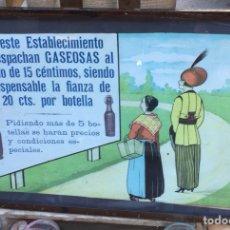 Coleccionismo de carteles: SIFON ANTIGUA PUBLICIDAD ÉPOCA MODERNISTA ORIGINAL. Lote 107330290