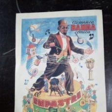Coleccionismo de carteles: MUY BONITO CARTEL EN CARTON AUTENTICA BANDA COMICA EL EMPASTRE J.FEREIRA. Lote 108401054