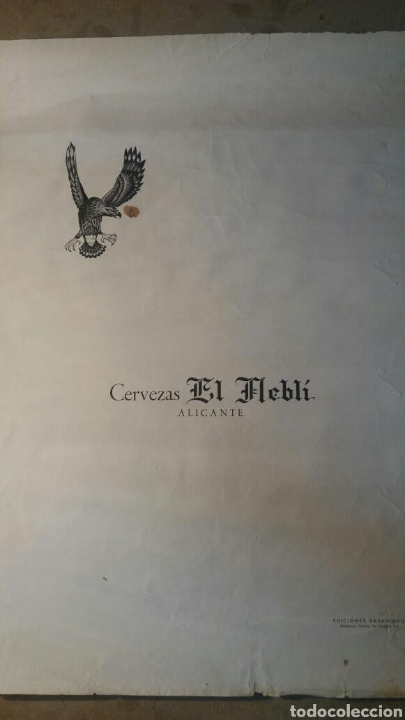 CERVEZAS EL NEBLÍ.ALICANTE 34 X 49 CM (Coleccionismo - Carteles Pequeño Formato)