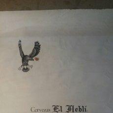 Coleccionismo de carteles: CERVEZAS EL NEBLÍ.ALICANTE 34 X 49 CM. Lote 109111890