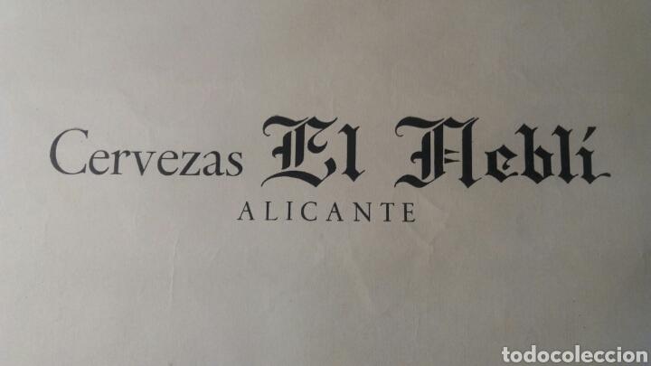 Coleccionismo de carteles: Cervezas El Neblí.Alicante 34 x 49 cm - Foto 2 - 109111890