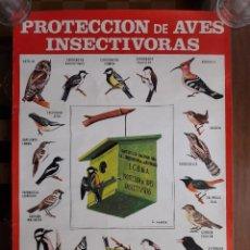 Coleccionismo de carteles: CARTEL DE PROTECCIÓN DE AVES INSECTÍVORAS. ICONA. 1984. Lote 130967539