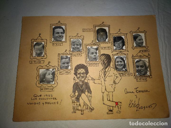 FELICITACION PERSONAL DE KIKO LEDGARD AÑO 1972 -PRESENTADOR DEL 1-2-3 (Coleccionismo - Carteles Pequeño Formato)