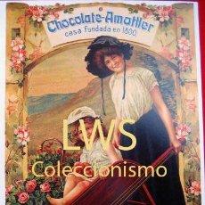 Coleccionismo de carteles: CHOCOLATES AMATLLER - BARCELONA - PUBLICIDAD IMÁGENES ALIMENTACIÓN S-3. Lote 110539403