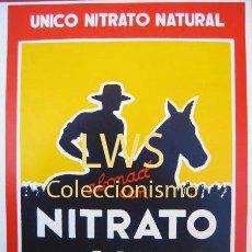 Coleccionismo de carteles: NITRATO DE CHILE PUBLICIDAD IMÁGENES - ABONOS S-4. Lote 194529705