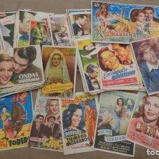 Coleccionismo de carteles: GRAN COLECCIÓN DE PROSPECTOS DE MANO DE PELÍCULAS DE CINE. Lote 111175479
