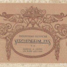 Coleccionismo de carteles: TARJETA PUBLICITARIA INDUSTRIAS GRÁFICAS SEIX & BARRAL HNOS. 1919. 14'5 X 9'5 CM.. Lote 111330819