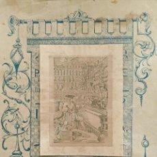 Coleccionismo de carteles: CARTEL PUBLICITARIO CON LITOGRAFÍA ADHERIDA DE FARMACIA. AÑOS 30. Lote 111388247