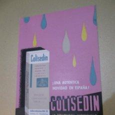 Coleccionismo de carteles: COLISEDIN CARTEL EN DIPTICO LABORATORIOS BA-SE VALENCIA. Lote 111397967