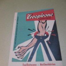 Coleccionismo de carteles: PUBLICIDAD ZEOPRIONE TEOPRIONE LABORATORIOS GRESA VALENCIA . Lote 111398107