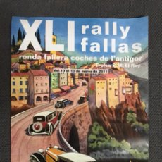 Coleccionismo de carteles: VALENCIA. CARTEL. XLI RALLY FALLAS VALENCIA (A.2011). Lote 111723635