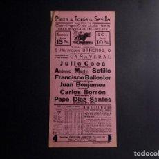 Coleccionismo de carteles: CARTEL PLAZA DE TOROS DE SEVILLA 1956. Lote 112356919