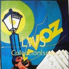 Colecionismo de cartazes: LA VOZ DIARIO DE LA NOCHE DE MADRID PUBLICIDAD IMÁGENES PRENSA NOTICIEROS S-5. Lote 112361783
