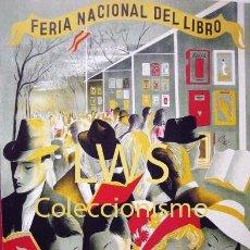 Colecionismo de cartazes: FERIA NACIONAL DEL LIBRO MADRID 1944 PUBLICIDAD IMÁGENES LECTURA S-5. Lote 112363603