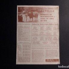 Coleccionismo de carteles: CARTEL PLAZA DE TOROS DE SEVILLA 1979. Lote 112531603