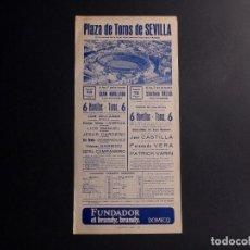 Coleccionismo de carteles: CARTEL PLAZA DE TOROS DE SEVILLA 1978. Lote 112531819