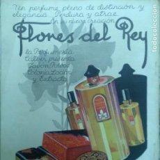 Coleccionismo de carteles: PERFUMERIA CALBER FLORES DEL REY SAN SEBASTIAN.HOJA PUBLICIDAD AÑO 1930. Lote 112545519