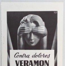 Coleccionismo de carteles: PUBLICIDAD 1963. CONTRA DOLORES VERAMON SCHERING. Lote 112751103