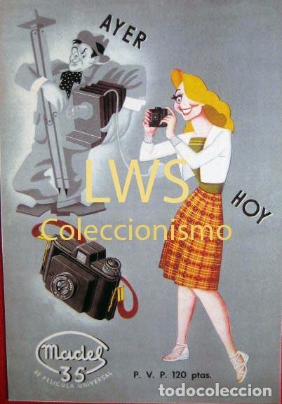 AYER HOY MADEL 35 PUBLICIDAD IMÁGENES IMÁGEN FOTOFRAFÍA (Coleccionismo - Carteles Pequeño Formato)