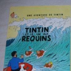 Coleccionismo de carteles: TINTIN ET LE LAC AUX REQUINS 1 POSTER AFFICHE 23X33CM.. Lote 113216899