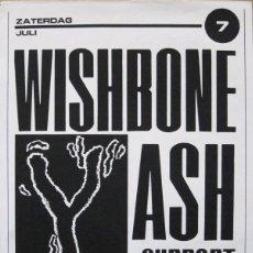Coleccionismo de carteles: WISHBONE ASH. CARTEL CONCIERTO AMSTERDAM AÑOS 80. Lote 113264951