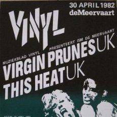 Coleccionismo de carteles: VIRGIN PRUNES, THIS HEAT. CARTEL CONCIERTO AMSTERDAM 1982. Lote 113265091