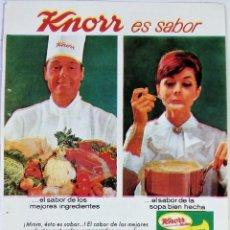 Coleccionismo de carteles: PUBLICIDAD 1965. ANUNCIO SOPAS KNORR - ANTOLOGÍA DEL SUSPENSE. Lote 113903571