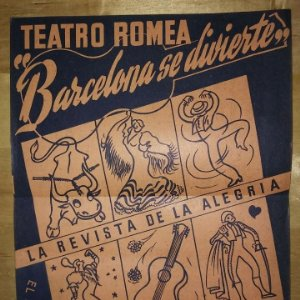 Teatro Romea. Auca. L'auca d'una soltera. Luis Elias. 29x44cm