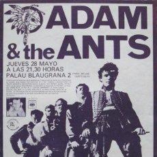 Coleccionismo de carteles: ADAM & THE ANTS. CARTEL CONCIERTO BARCELONA 1981. Lote 114752523