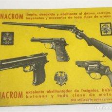Coleccionismo de carteles: TARJETA PUBLICITÀRIA NACROM 1966. Lote 115036371