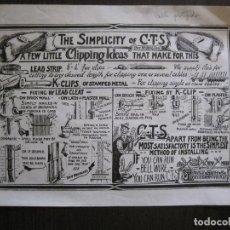 Coleccionismo de carteles: CARTEL ANTIGUO PUBLICIDAD CABLE ELECTRICO PROTEGIDO -20 X26 CM. -VER FOTOS - (V-13.786). Lote 115117603