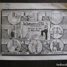 Coleccionismo de carteles: CARTEL ANTIGUO PUBLICIDAD CABLE ELECTRICO PROTEGIDO -20 X26 CM. -VER FOTOS - (V-13.788). Lote 115118055