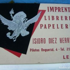 Coleccionismo de carteles: CALENDARIO COMPLETO DE LEON AÑO 1967 PEGASO EN RELIEVE PERFECTO ESTADO. Lote 115234123