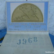 Coleccionismo de carteles: ANTIGUO CALENDARIO DE LEON COMPLETO PERFECTO ESTADO 1968. Lote 115234271