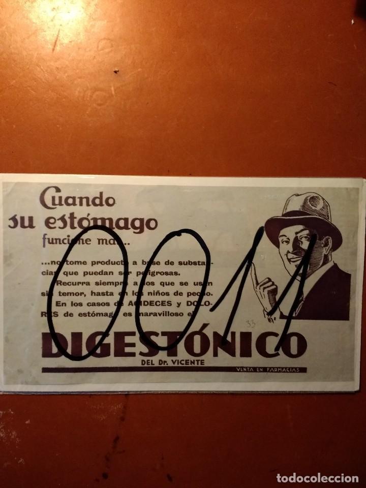 PUBLICIDAD. DIGESTONICO. ART DECO. 1933. (Coleccionismo - Carteles Pequeño Formato)