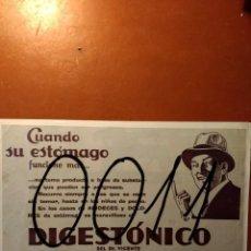 Coleccionismo de carteles: PUBLICIDAD. DIGESTONICO. ART DECO. 1933.. Lote 115439447