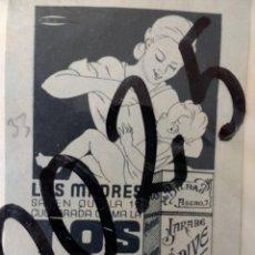 Collectionnisme d'affiches: PUBLICIDAD. JARABE ORIVE. ANTICATARRALES. 1933.. Lote 115544039
