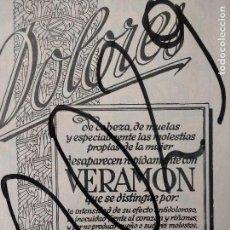 Coleccionismo de carteles: PUBLICIDAD. VERAMON. ANTIDOLOROSOS. 1929.. Lote 115546211