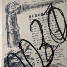 Coleccionismo de carteles: PUBLICIDAD. LECHE CONDENSADA LA LECHERA. 1933.. Lote 115546507
