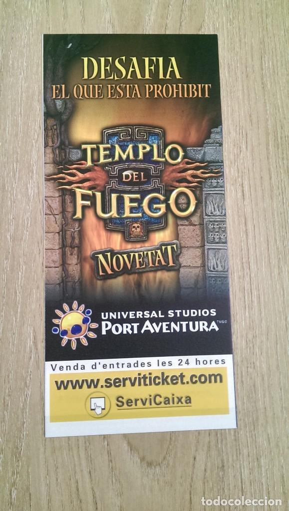 Cartel Tríptico Templo Del Fuego Port Aventu Verkauft Durch