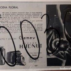 Coleccionismo de carteles: PUBLICIDAD. EXTRACTO Y LOCION GEMEY. RICHARDT HUDNUT. ART DECO. 1931.. Lote 115635803